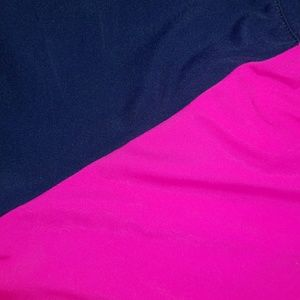 dELiA*s Swim - Bright Pink & Deep Blue Crop Rash Guard